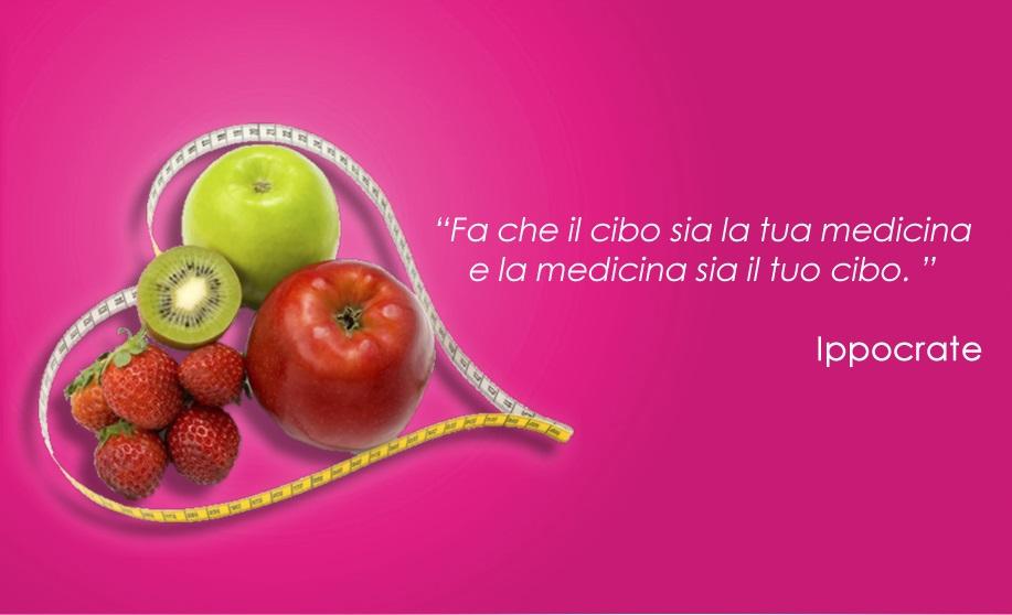 Fa che il cibo sia la tua medicina e la medicina sia il tuo cibo